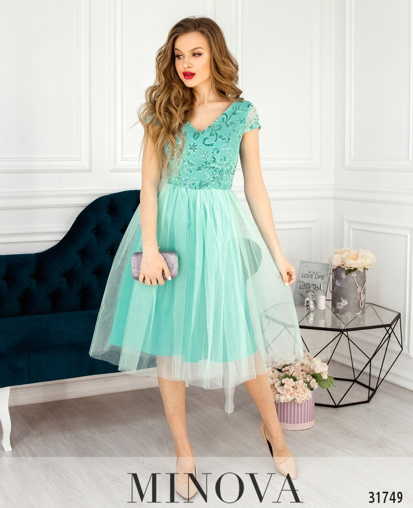 Платье №17290-мятный