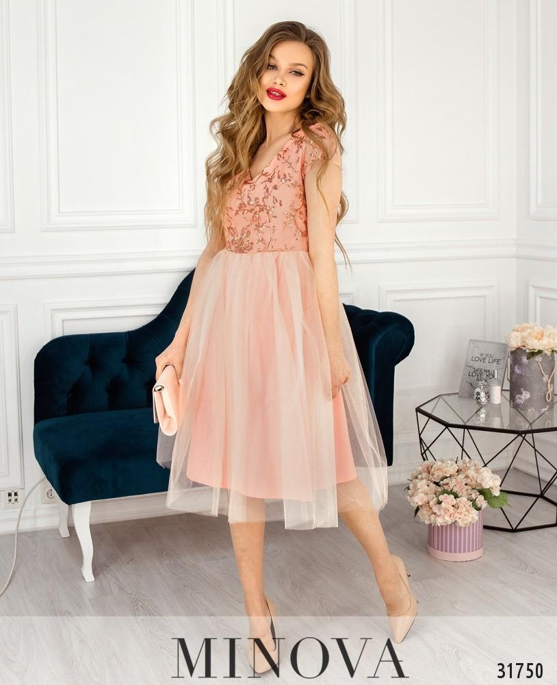 Платье №17290-персик
