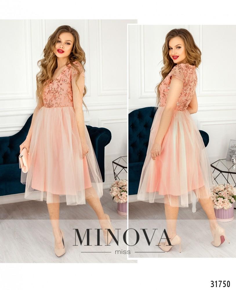 Платье №17290-персик (sale)