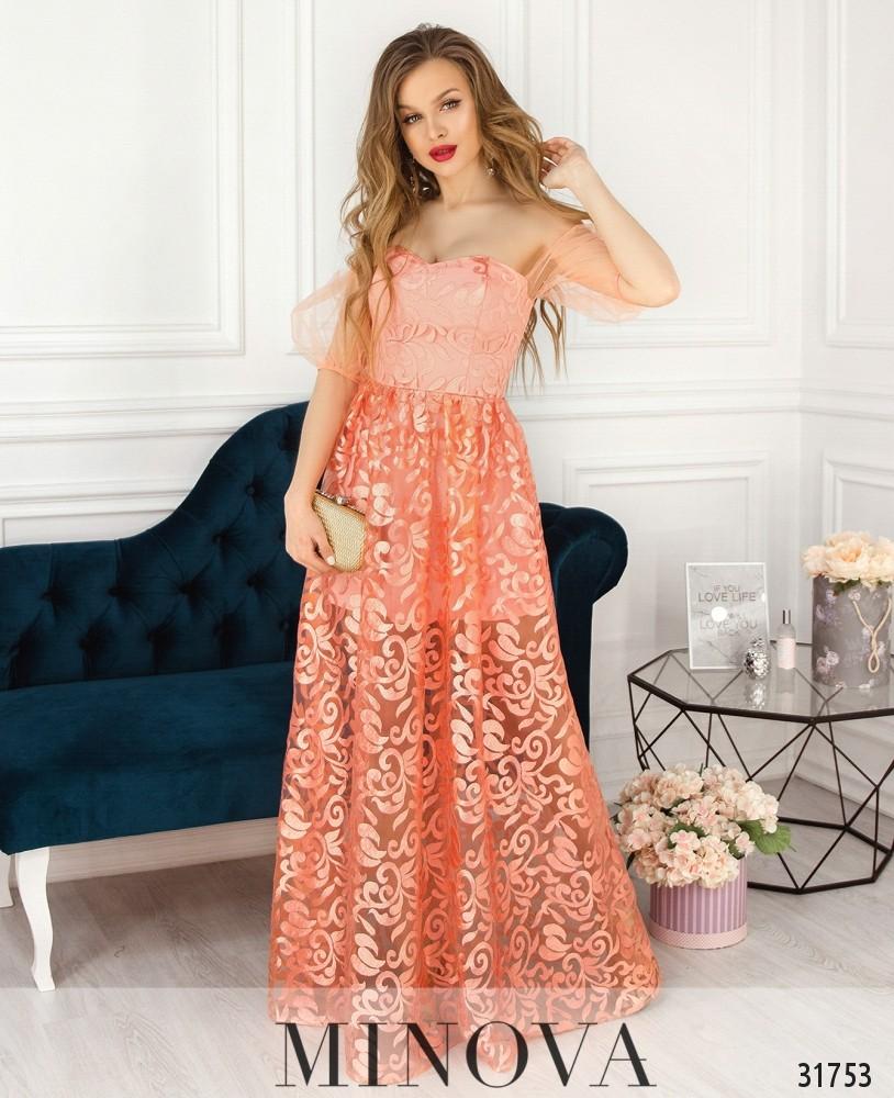 Платье №17530-персик