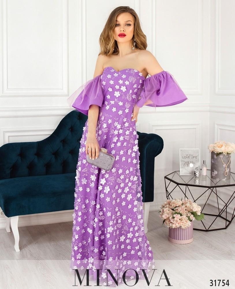 Платье №18230-сиреневый