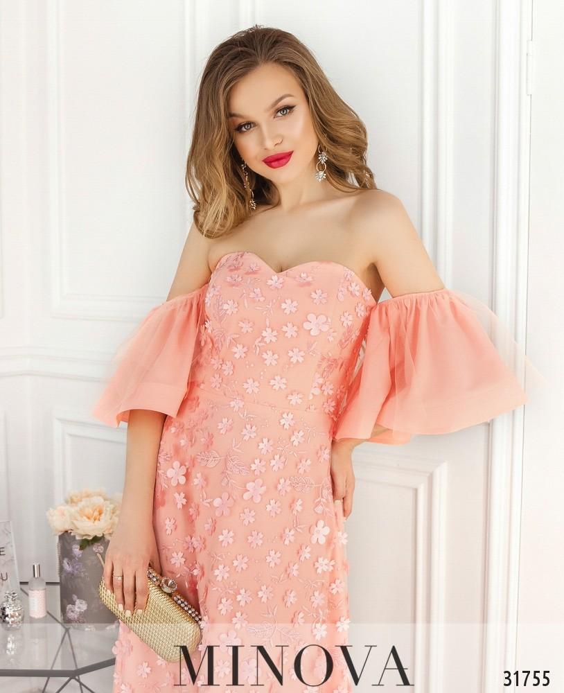 Платье №18230-персик