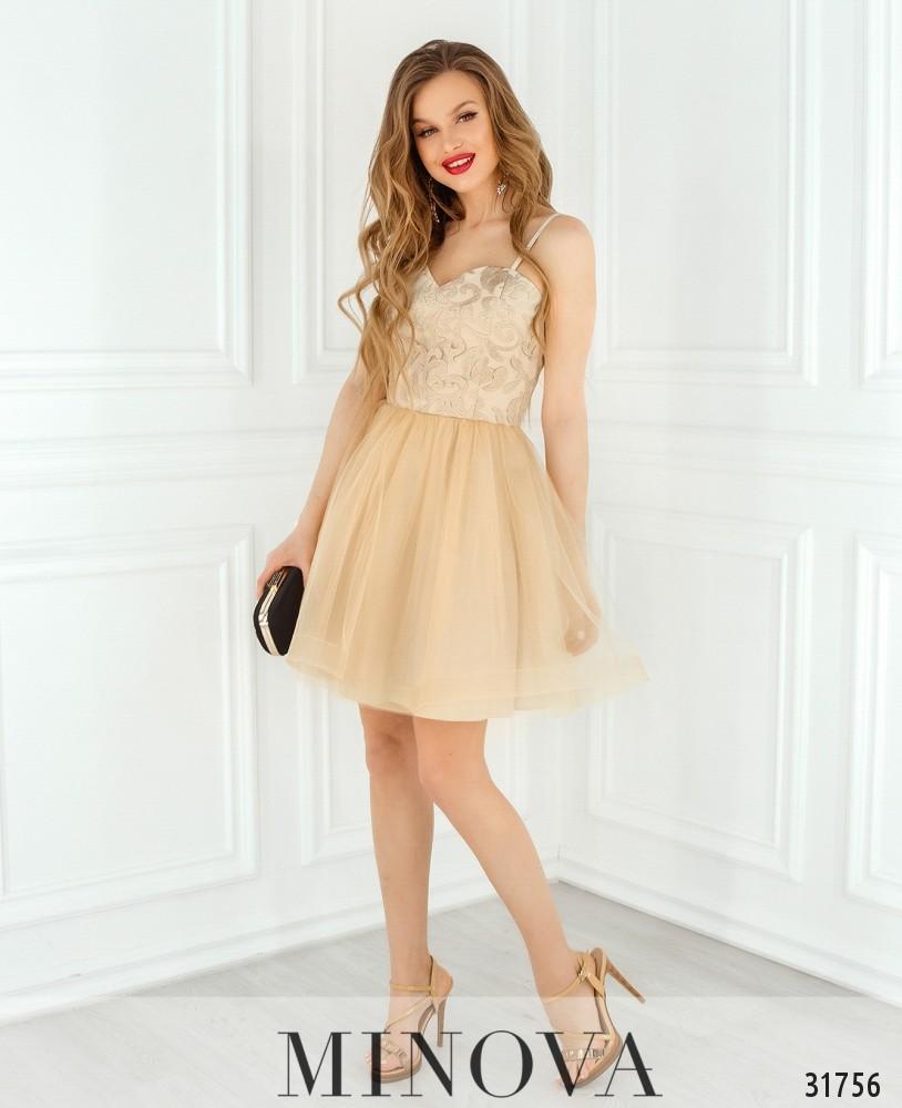Платье №1822-золото