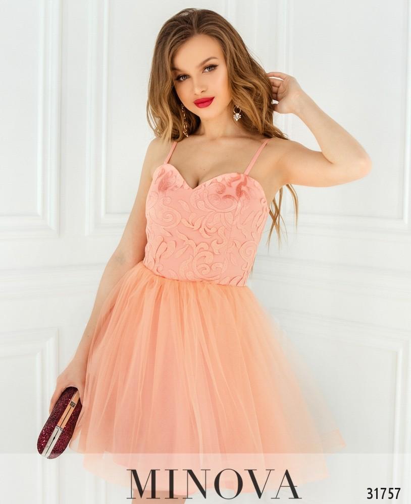 Платье №1822-персик