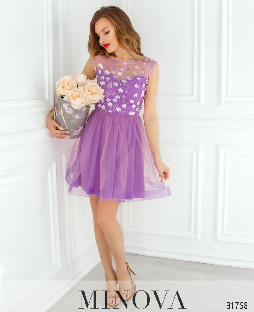 Платье №1821-сиреневый