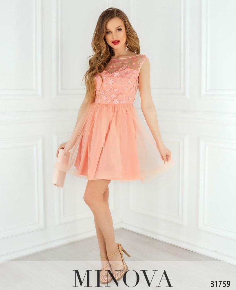 Платье №1821-персик