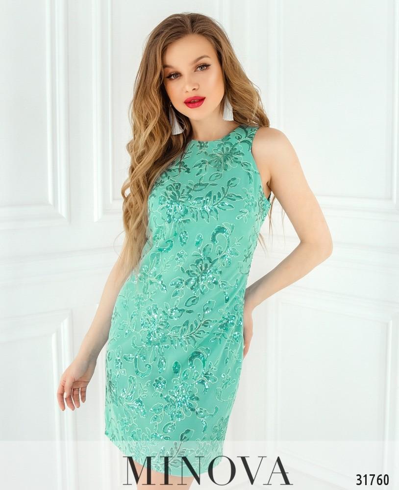 Платье №15501-мятный