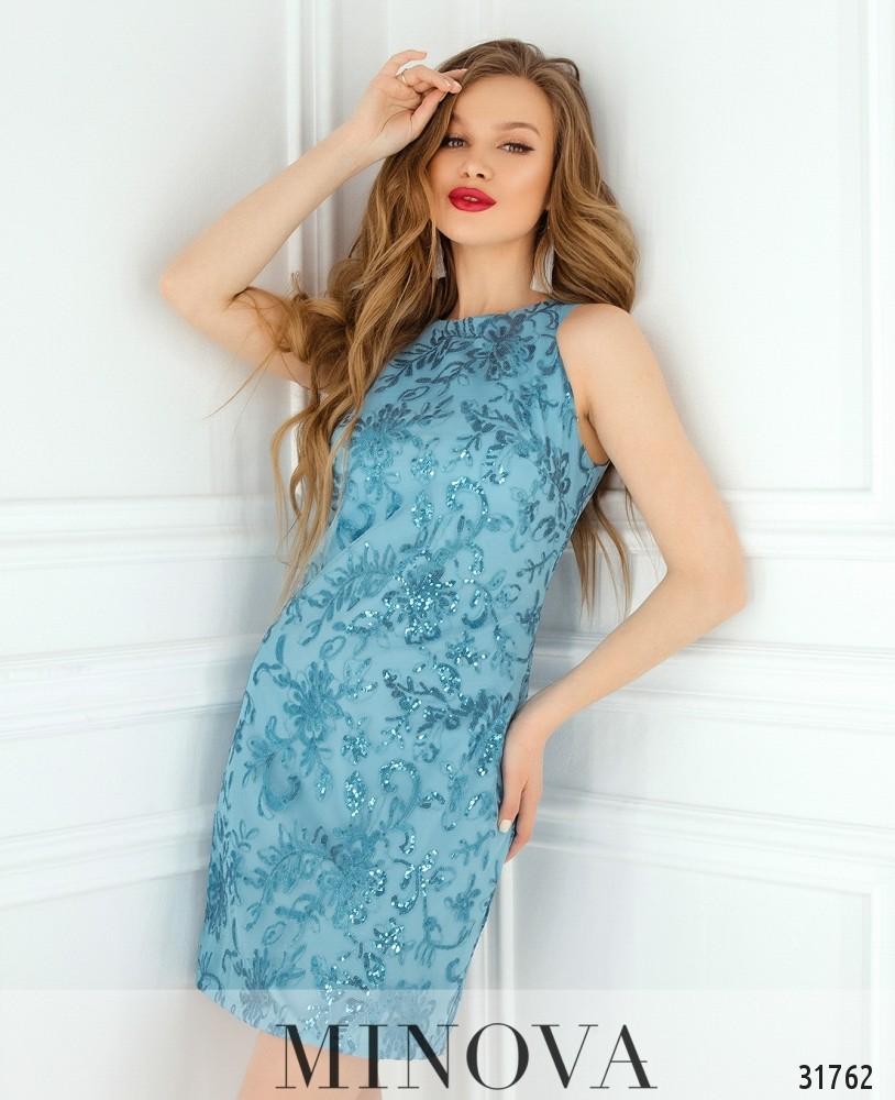 Платье №15501-голубой