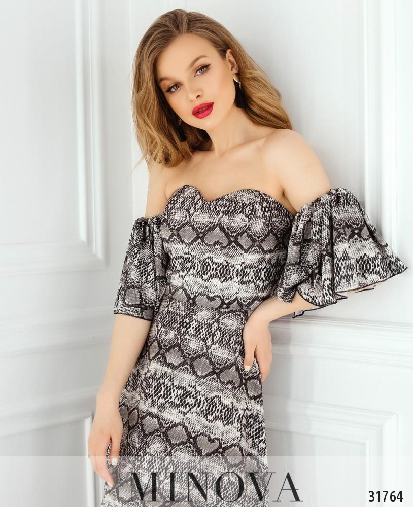 Платье №1823-серый