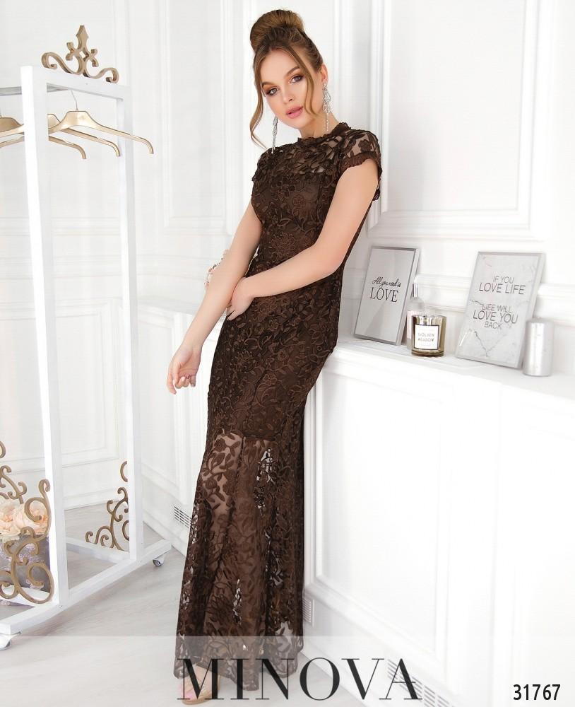 Платье №41217-шоколадный