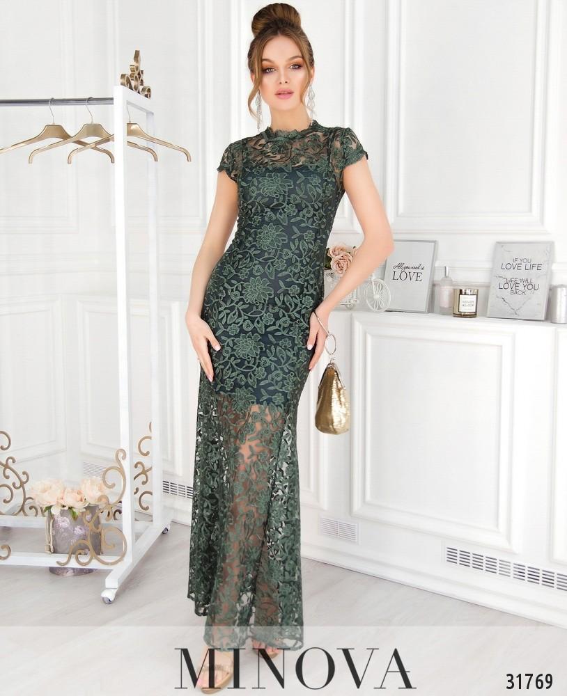 Платье №41217-зеленый