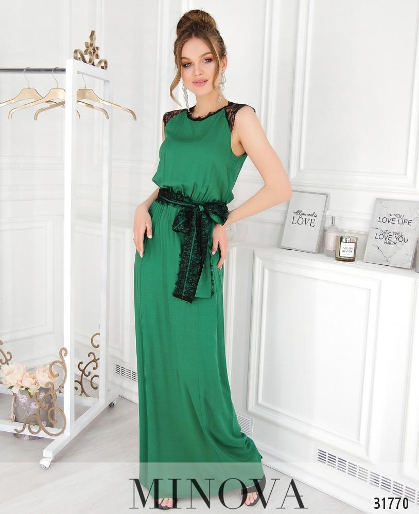 Платье №4111-зеленый