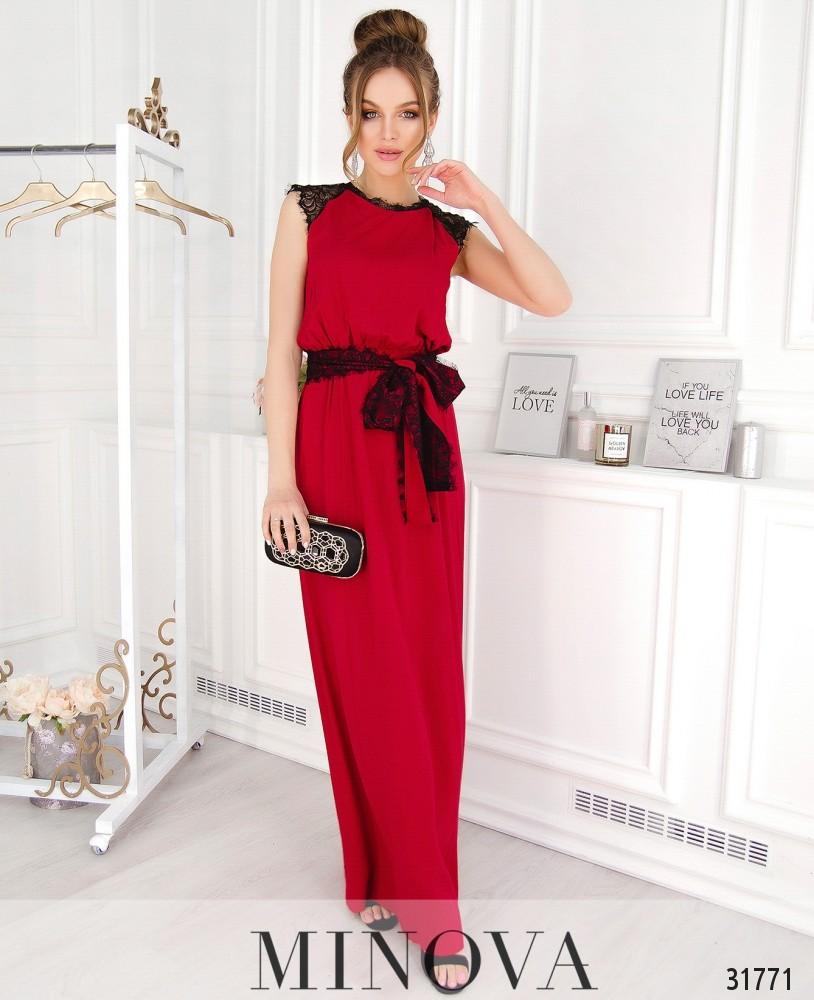 Платье №4111-красный
