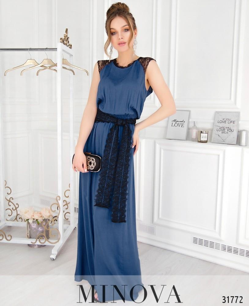Платье №4111-джинс