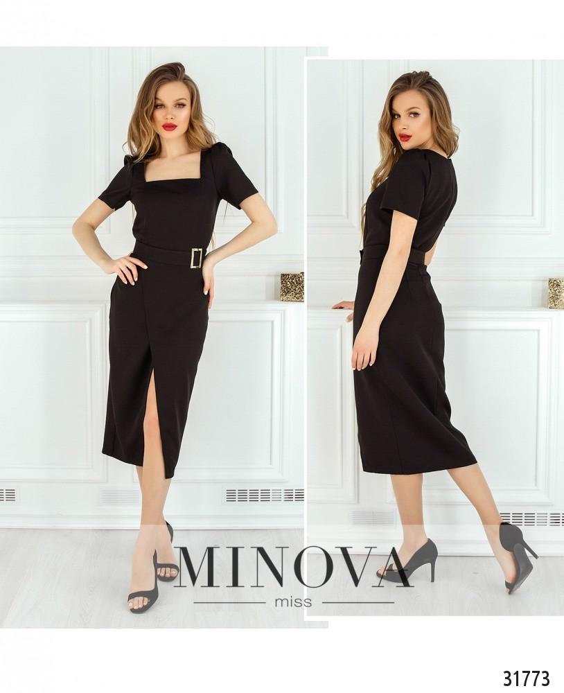 Платье №8607-черный (н)