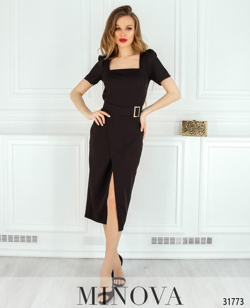 Платье №8607-черный