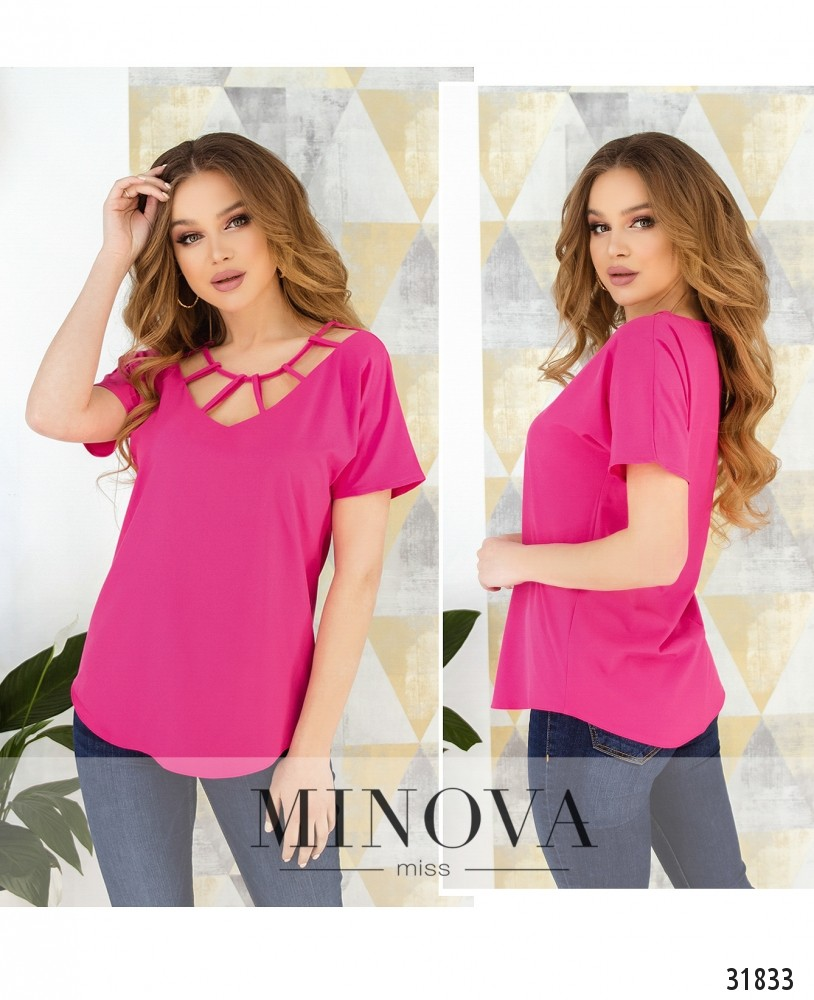 Блуза №170-малиновый (н)