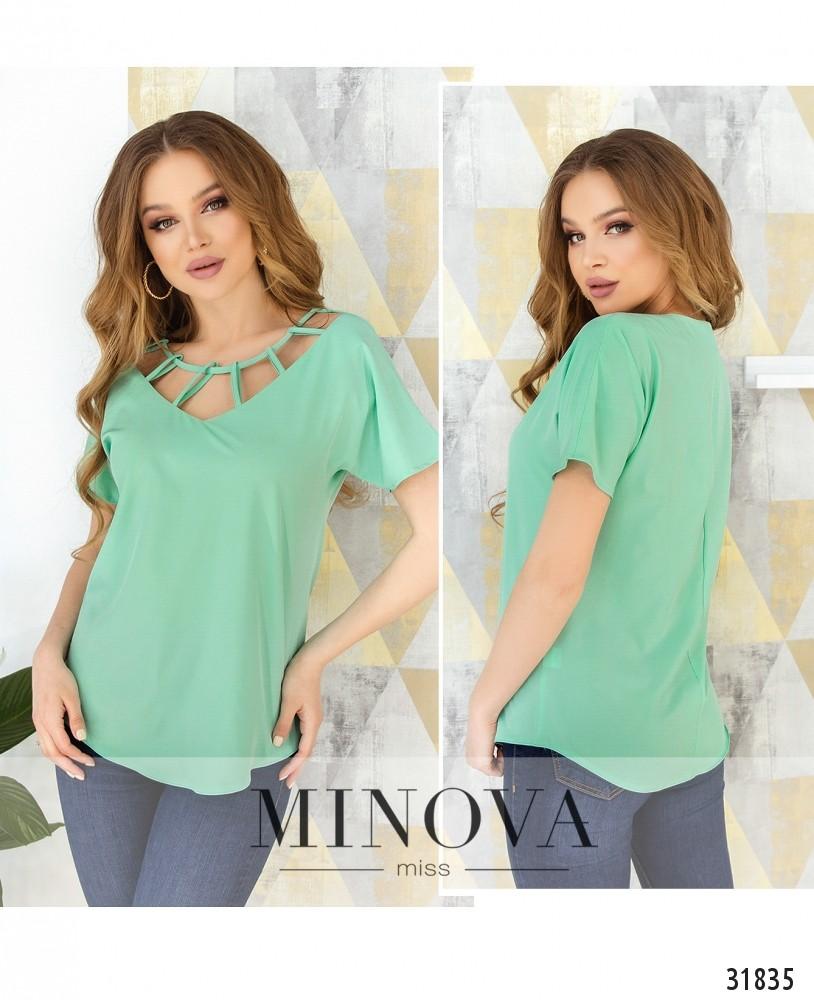 Блуза №170-мята (н)