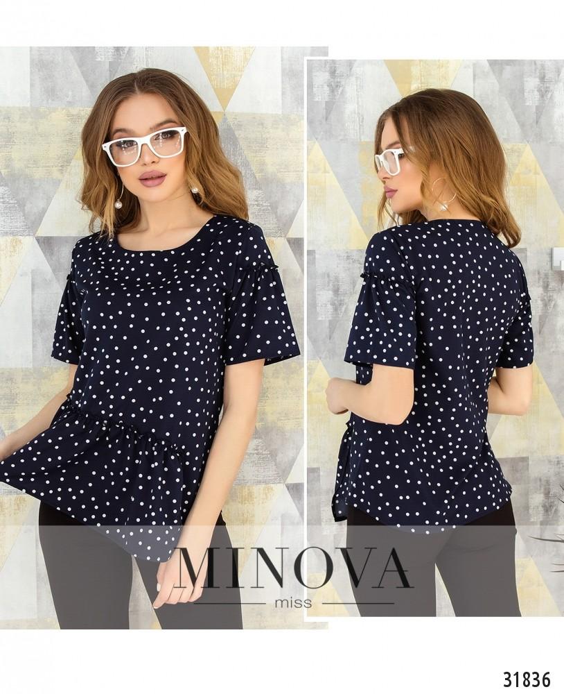 Блуза №168-темно-синий (н)