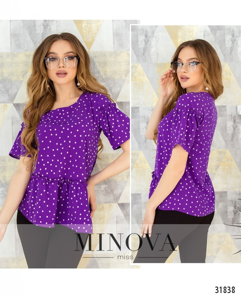 Блуза №168-фиолетовый (н)