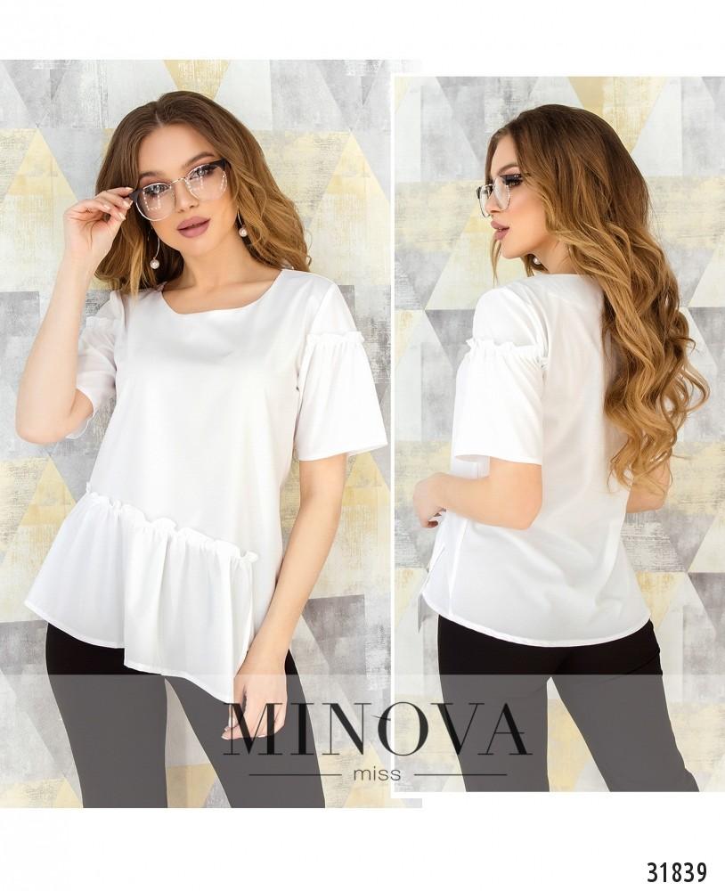 Блуза №168-белый (н)