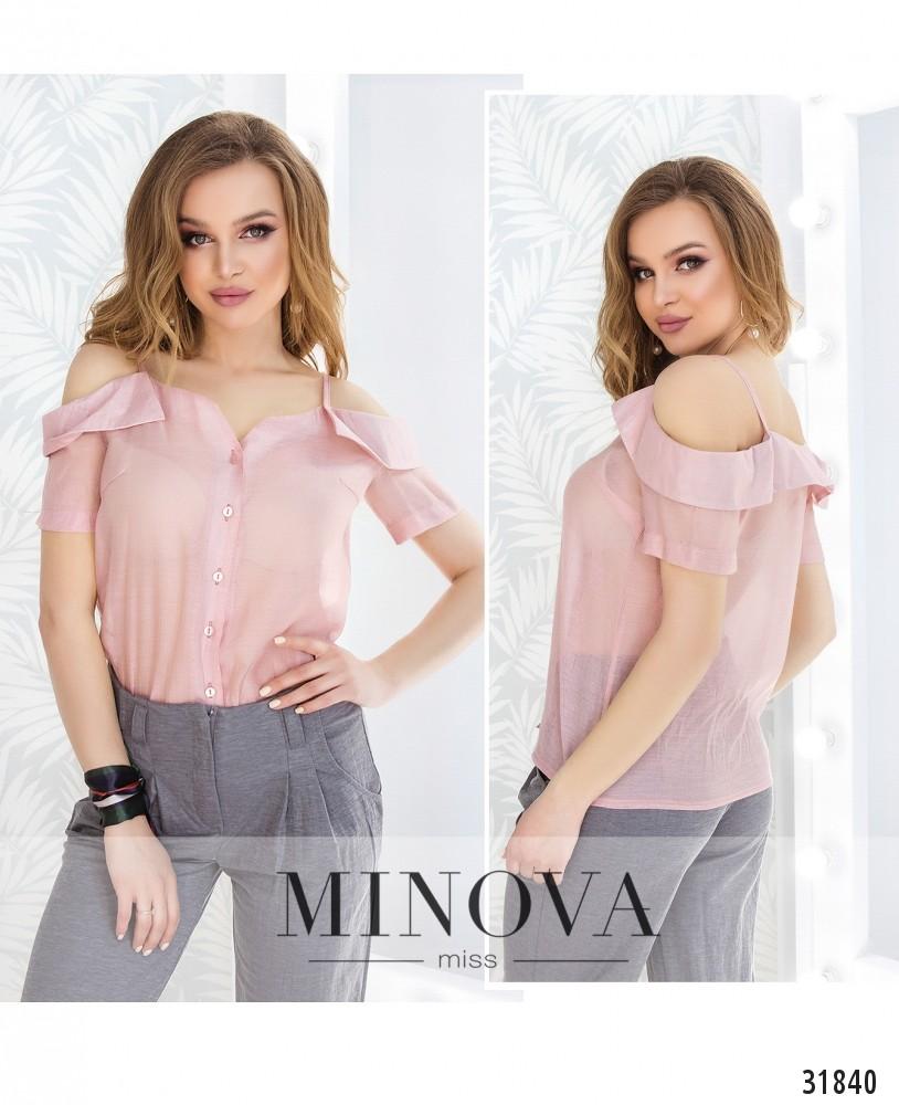 Блуза №4104-пудра (н)