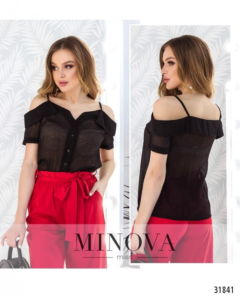 Блуза №4104-черный (н)