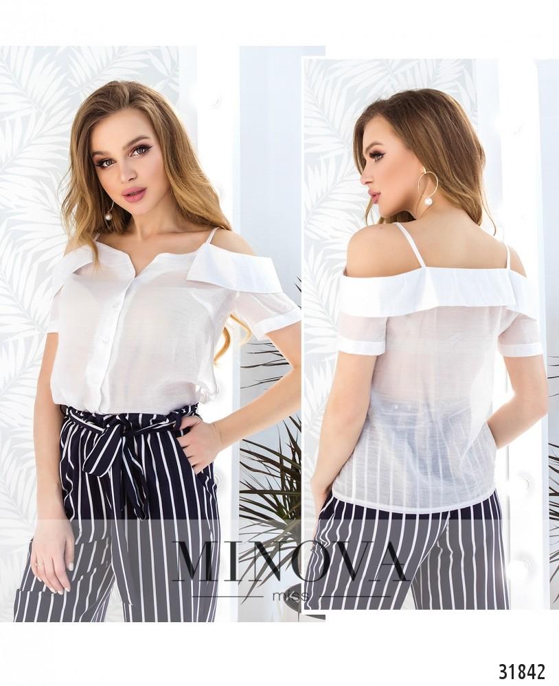 Блуза №4104-белый (н)
