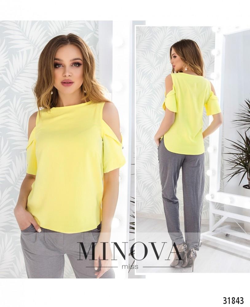 Блуза №4087н-желтый (н)