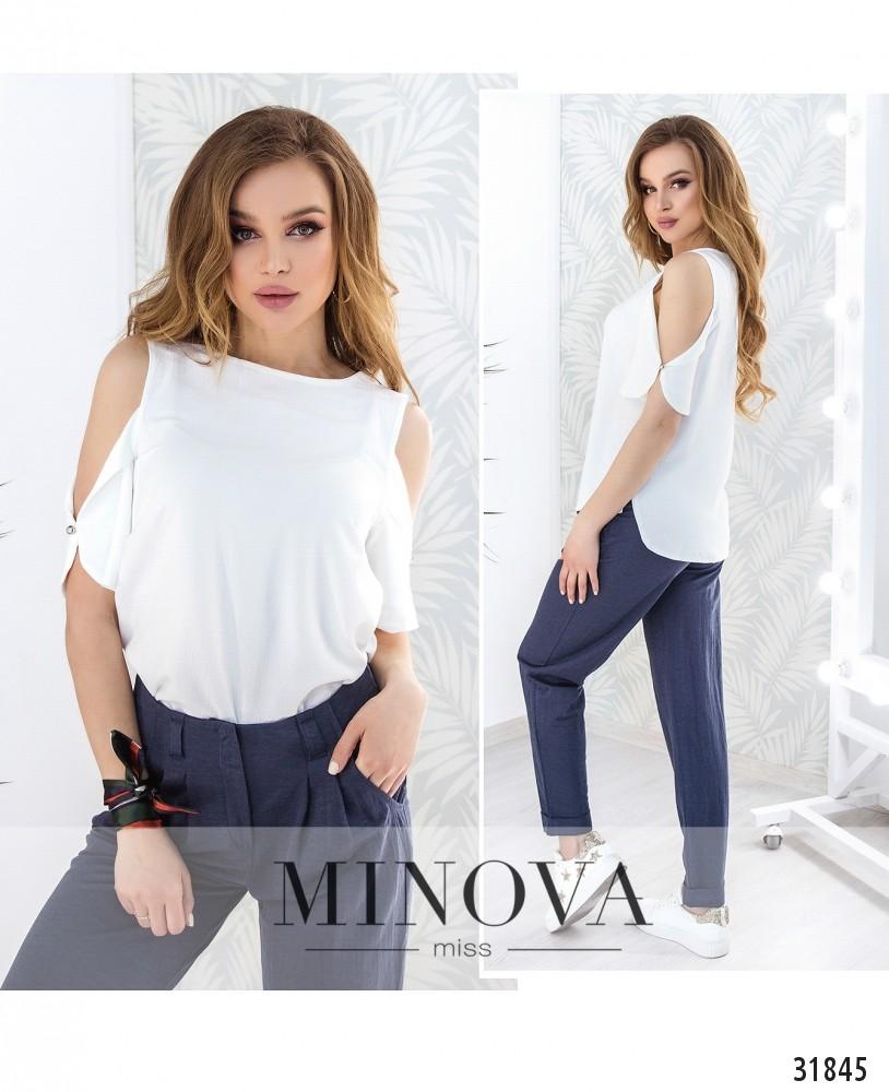 Блуза №4087н-белый (н)