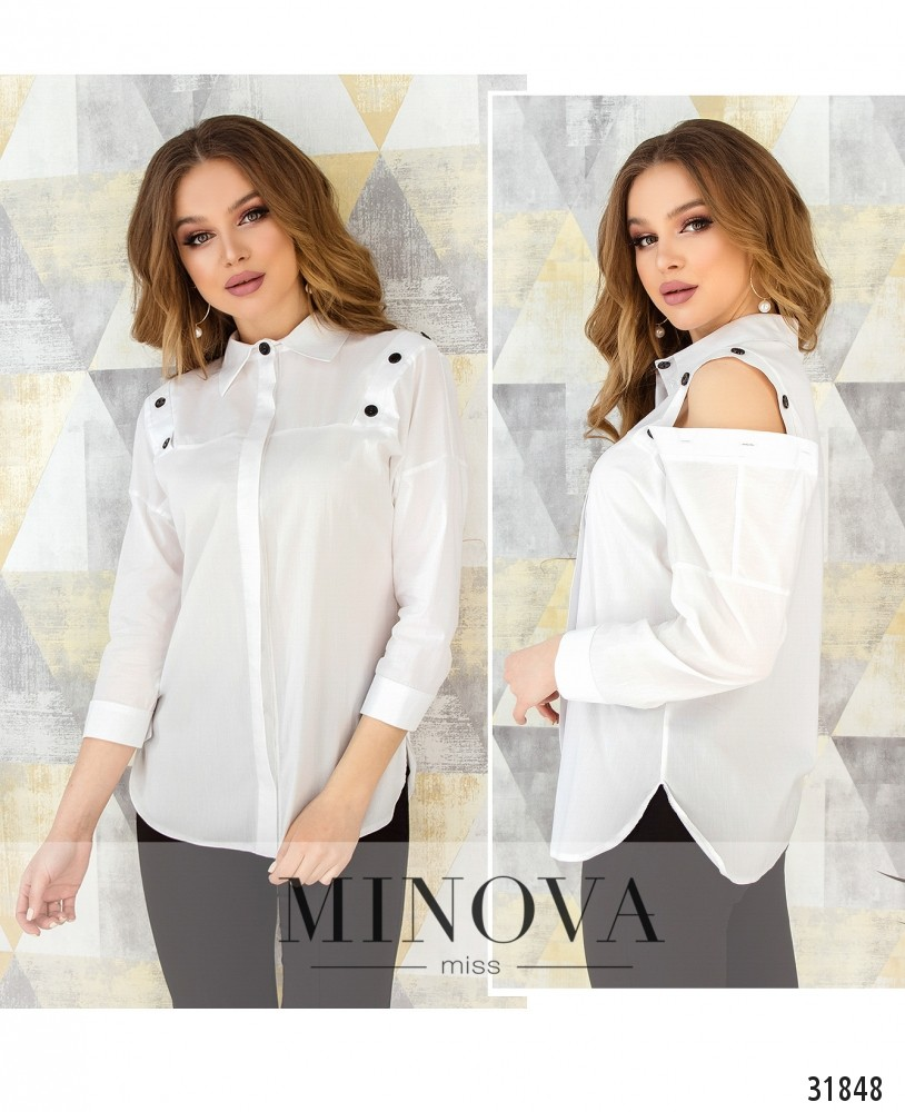 Рубашка №4101-белый (н)