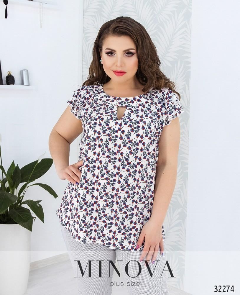 Блуза №169Б-белый