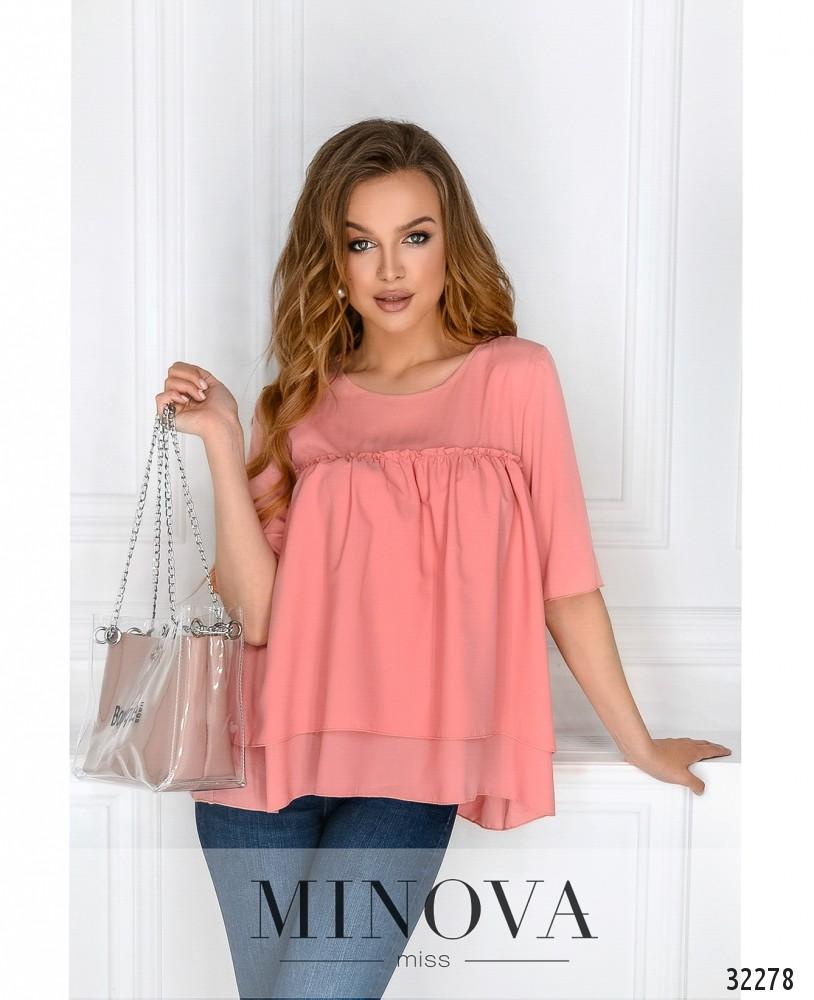 Блуза №1032-пудра