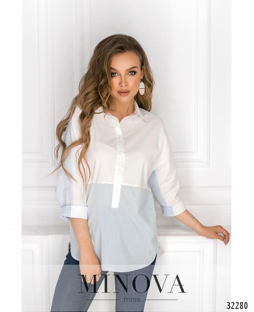 Рубашка №1025-голубой