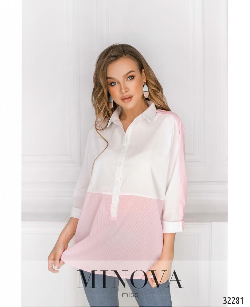 Рубашка №1025-пудра
