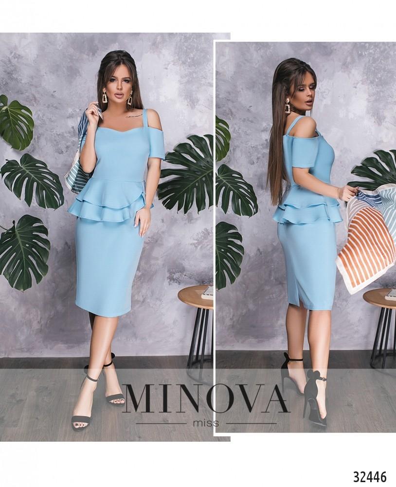 Платье №517-голубой (sale)