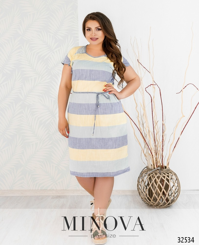 Платье №8-159-синий