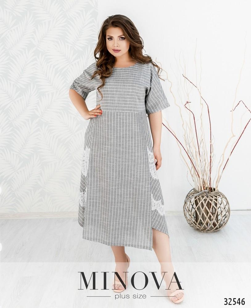 Платье №447-серый