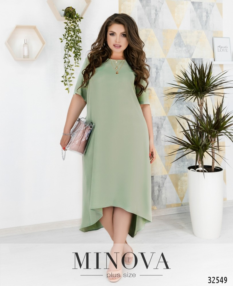 Платье №275-оливковый