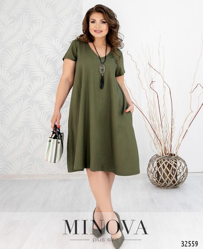 Платье №482А-зеленый