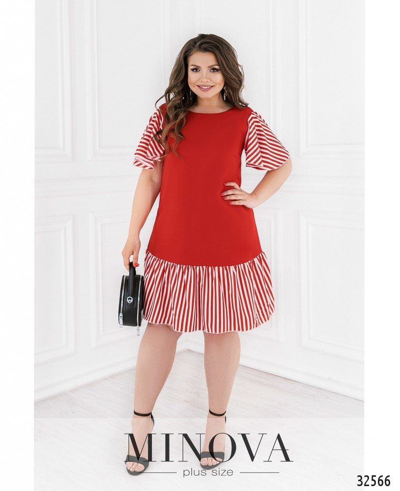 Платье №110-красный