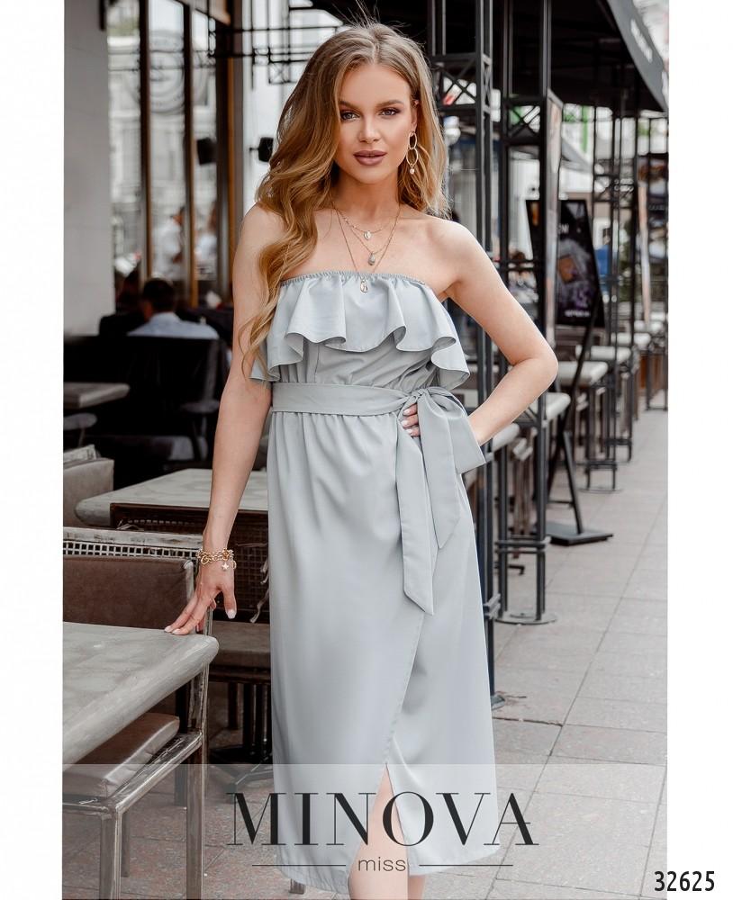 Платье MA8608-светло-серый (н)