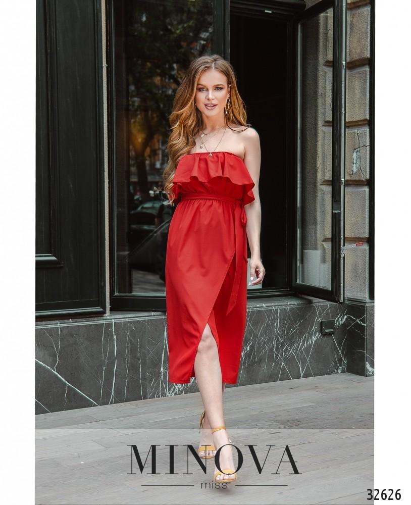 Платье MA8608-красный (н)