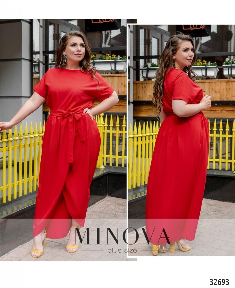 Платье №8609-1-красный