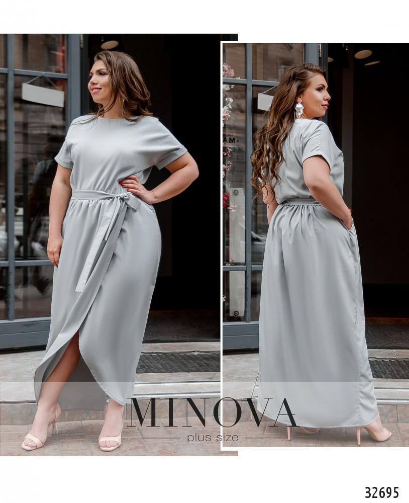 Платье №8609-1-светло-серый
