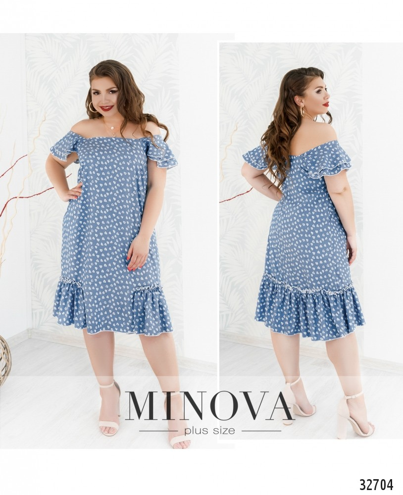 Платье №19-22-голубой (sale)