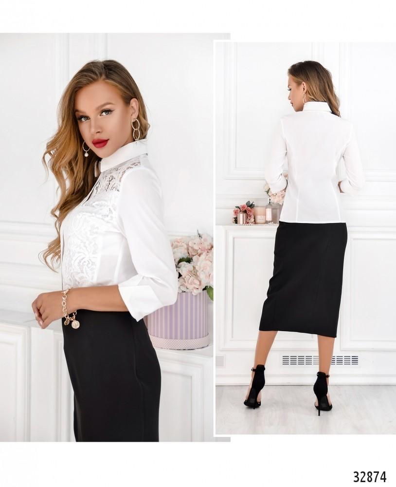 Рубашка №1861-белый