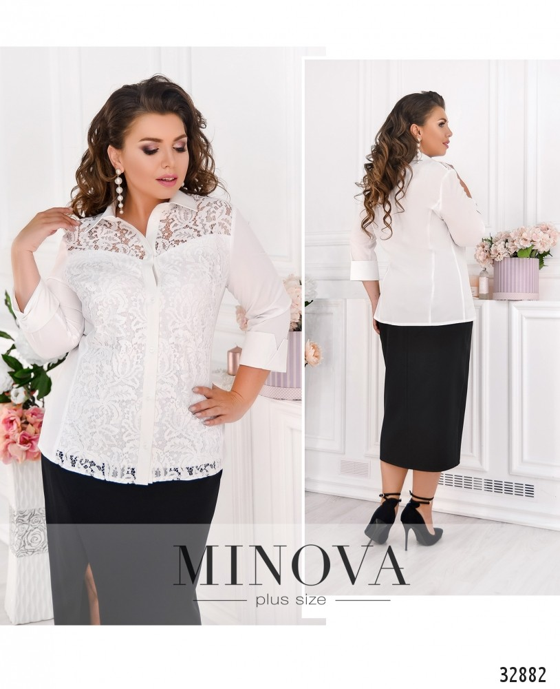 Рубашка №1861-1-белый