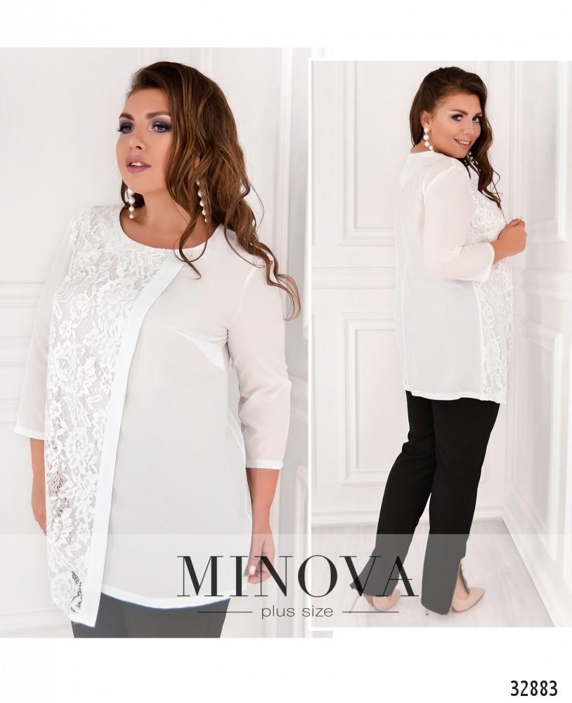 Рубашка №4088-1-белый
