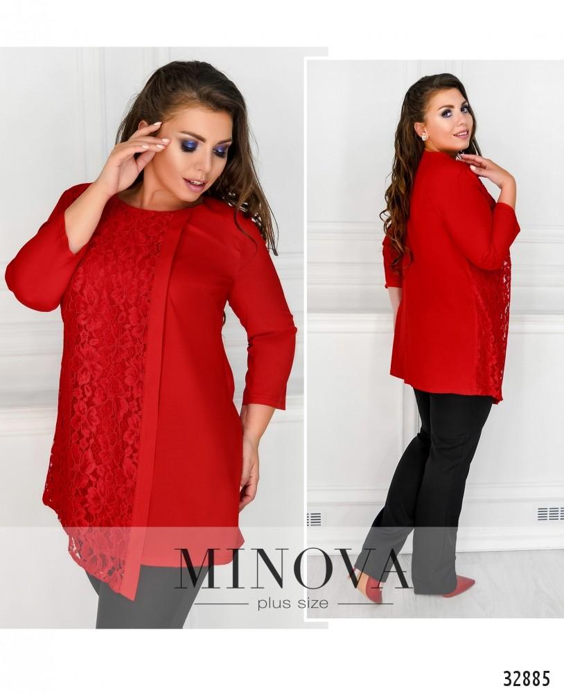 Рубашка №4088-1-красный